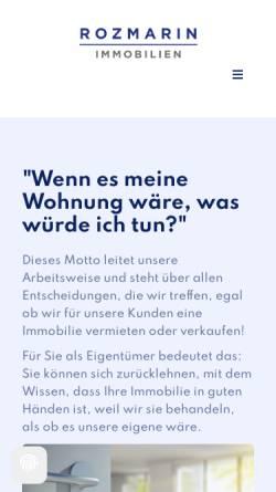Vorschau der mobilen Webseite www.vermietspezialist.de, Bartsch & Rozmarin Immobilien OHG