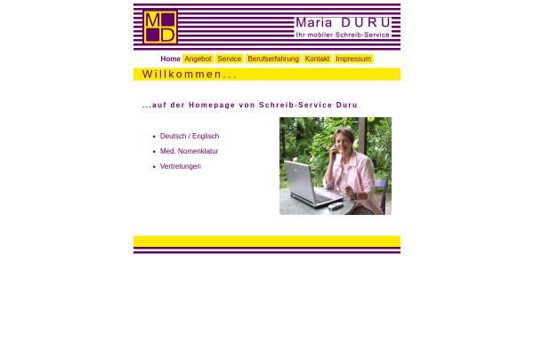 Vorschau von www.schreibservice-duru.de, Schreib-Service Maria Duru