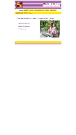 Vorschau der mobilen Webseite www.schreibservice-duru.de, Schreib-Service Maria Duru