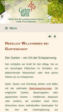 Vorschau der mobilen Webseite www.gartenkunst-korte.de, Gartenkunst Korte, Kai Korte