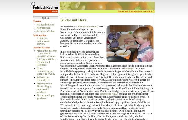 Vorschau von polnischkochen.de, Polnische Küche