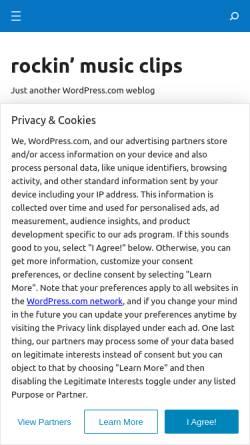 Vorschau der mobilen Webseite promoclips.wordpress.com, rockin' music clips