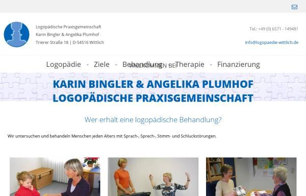 Vorschau von www.logopaedie-wittlich.de, Logopãdische Praxisgemeinschaft Karin Bingler und Angelika Plumhof