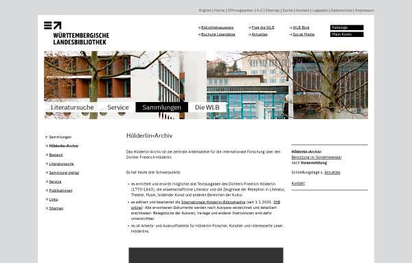 Vorschau von www.wlb-stuttgart.de, Hölderlin-Archiv