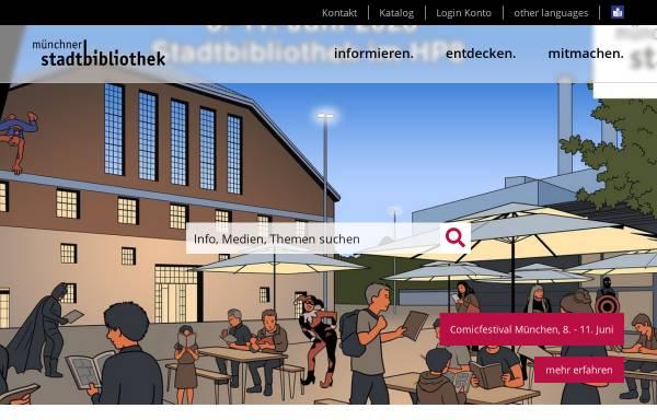 Vorschau von www.muenchner-stadtbibliothek.de, Literaturarchiv der Münchner Stadtbibliothek