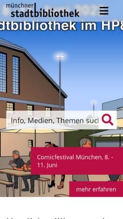 Vorschau der mobilen Webseite www.muenchner-stadtbibliothek.de, Literaturarchiv der Münchner Stadtbibliothek