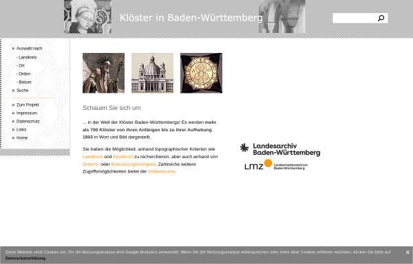 Vorschau von www.kloester-bw.de, Klöster in Baden-Württemberg