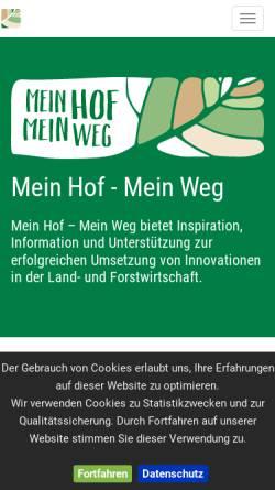 Vorschau der mobilen Webseite www.agrarprojektpreis.at, Agrar Projekt Preis
