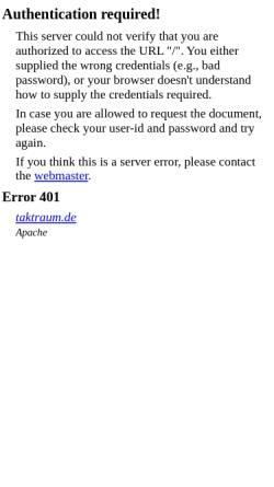Vorschau der mobilen Webseite taktraum.de, taktraum