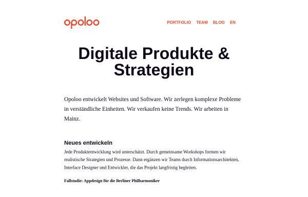 Vorschau von www.opoloo.de, Opoloo - Greif, Beyer & Rapin GbR