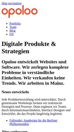 Vorschau der mobilen Webseite www.opoloo.de, Opoloo - Greif, Beyer & Rapin GbR