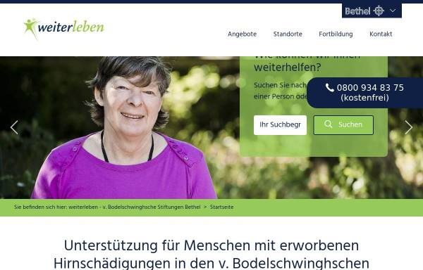 Vorschau von www.weiter-leben.de, weiterleben.de