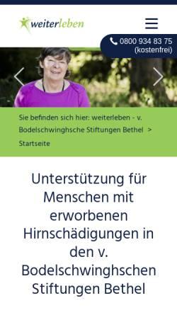 Vorschau der mobilen Webseite www.weiter-leben.de, weiterleben.de