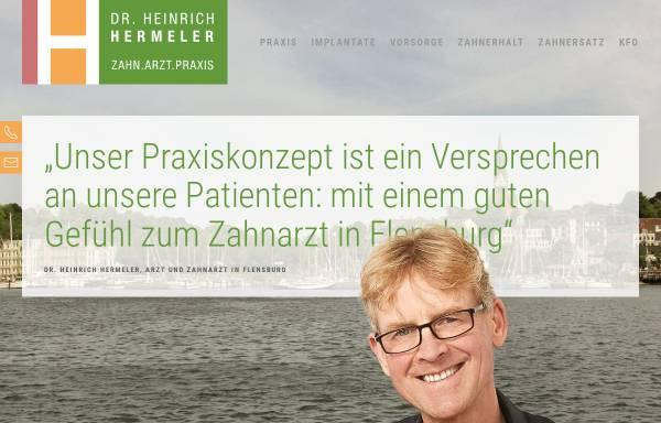 Vorschau von www.zahnarzt-hermeler-flensburg.de, Dr. Heinrich Hermeler
