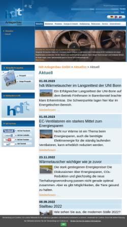 Vorschau der mobilen Webseite www.stallklima.de, Hdt Anlagenbau GmbH & Co. KG