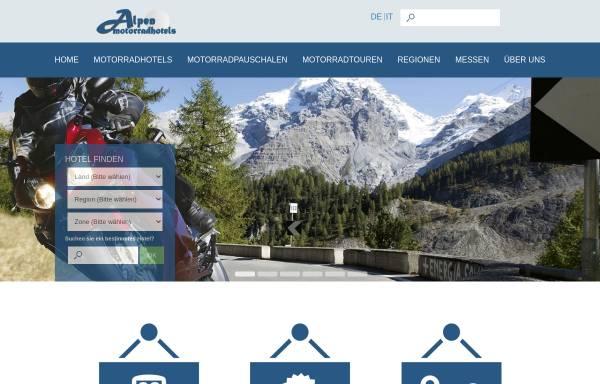 Vorschau von www.alpen-motorradhotels.com, Alpen-Motorradhotels