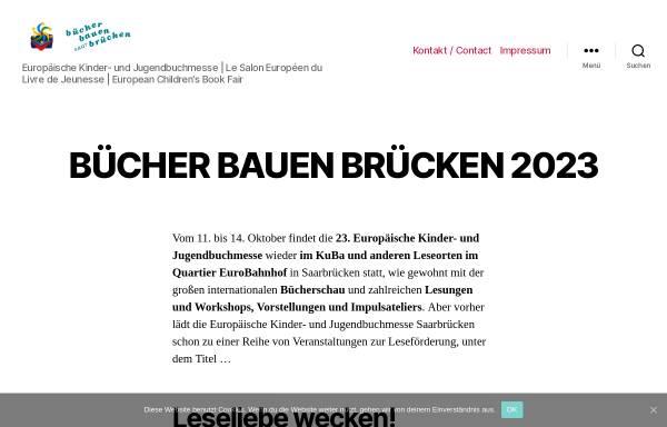 Vorschau von www.buchmesse-saarbruecken.eu, Europäische Kinder- und Jugendbuchmesse