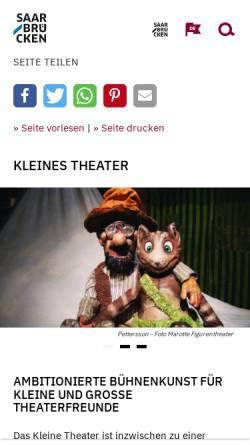 Vorschau der mobilen Webseite www.kleines-theater-rathaus.de, Das Kleine Theater im Rathaus