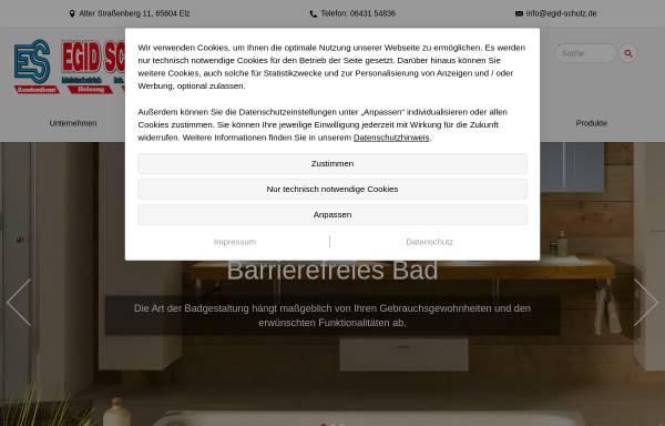 Vorschau von www.egid-schulz.de, Egid Schulz - Heizung Sanitär Klima - Inhaber Michael Schulz