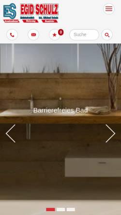 Vorschau der mobilen Webseite www.egid-schulz.de, Egid Schulz - Heizung Sanitär Klima - Inhaber Michael Schulz