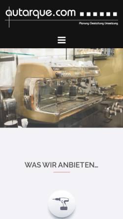 Vorschau der mobilen Webseite www.autarque.com, Autarque