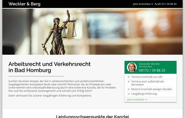 Vorschau von www.kanzlei-in-bad-homburg.de, Rechtsanwaltskanzlei Weckler & Berg