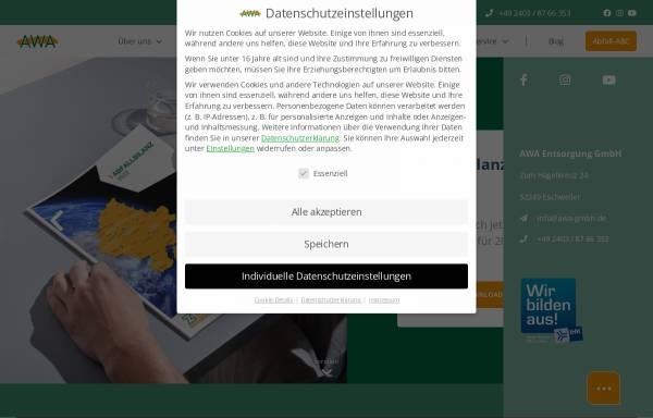 Vorschau von www.awa-gmbh.de, AWA Entsorgung GmbH