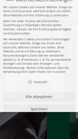 Vorschau der mobilen Webseite www.awa-gmbh.de, AWA Entsorgung GmbH