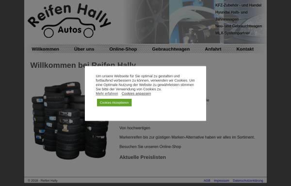 Vorschau von www.reifen-hally.de, Reifen Hally - Kfz-Zubehör und Handel