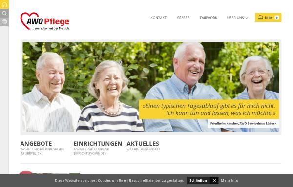 Vorschau von www.awo-pflege-sh.de, AWO Pflege Schleswig-Holstein gGmbH
