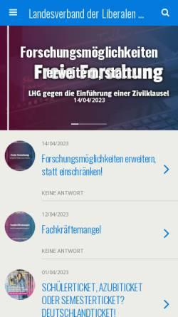 Vorschau der mobilen Webseite www.lhg-hessen.de, LHG - Liberale Hochschulgruppen Hessen