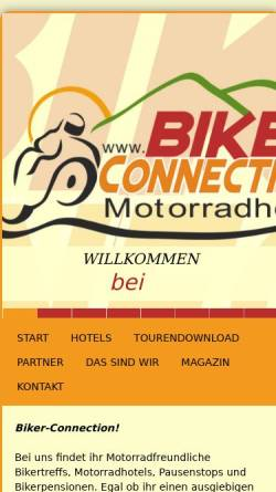 Vorschau der mobilen Webseite www.biker-connection.de, biker-connection.de