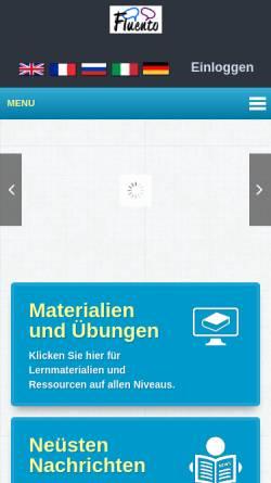 Vorschau der mobilen Webseite www.fluento.com, Fluento Limited