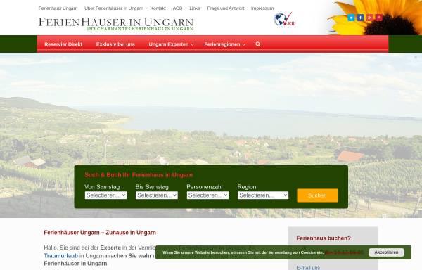 Vorschau von www.ferienhauserinungarn.de, Ferienhäuser in Ungarn