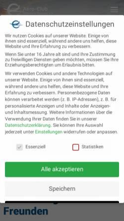 Vorschau der mobilen Webseite www.ac-hildesheim.de, Aero-Club Hildesheim