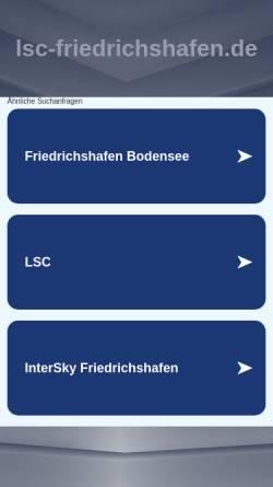 Vorschau der mobilen Webseite www.lsc-friedrichshafen.de, Luftsportclub Friedrichshafen