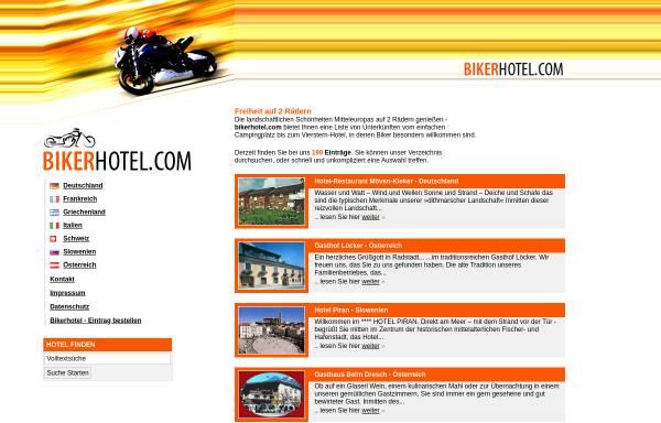 Vorschau von www.bikerhotel.com, bikerhotel.com