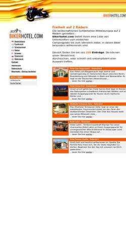 Vorschau der mobilen Webseite www.bikerhotel.com, bikerhotel.com