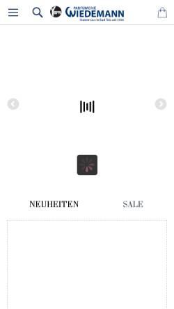 Vorschau der mobilen Webseite www.parfuemerie-wiedemann.de, Parfümerie Wiedemann