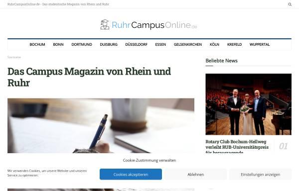 Vorschau von www.ruhrcampusonline.de, RuhrCampusOnline