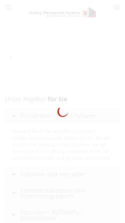 Vorschau der mobilen Webseite www.bms-solutions.de, Building Management Systems, Frank Lenders