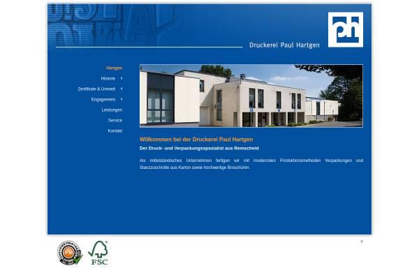 Vorschau von www.hartgen.de, Druckerei Hartgen