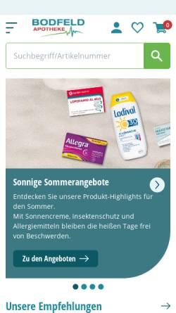 Vorschau der mobilen Webseite www.bodfeld-apotheke.de, Bodfeld-Apotheke