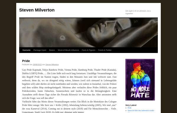 Vorschau von www.stevenmilverton.com, Steven Milverton