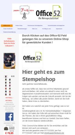 Vorschau der mobilen Webseite papierfritzbuero.de, Papier Fritz
