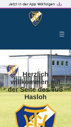 Vorschau der mobilen Webseite www.tus-hasloh-e-v.de, TuS Hasloh