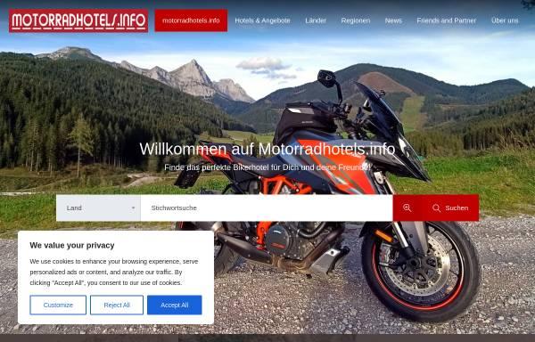 Vorschau von www.motorradhotels.info, MotorradHotels.info