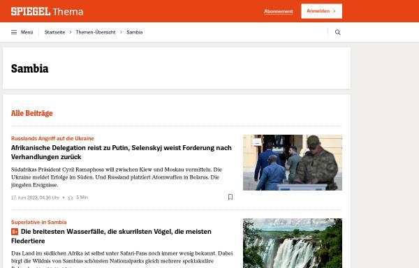 Vorschau von www.spiegel.de, Spiegel online - Sambia