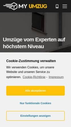 Vorschau der mobilen Webseite www.myumzug.de, Ahorn Umzüge Berlin