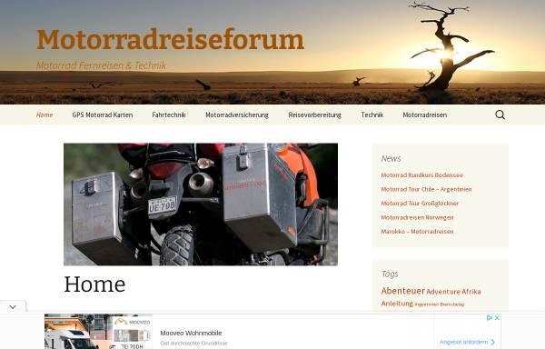 Vorschau von www.motorradreiseforum.de, Motorradreiseforum